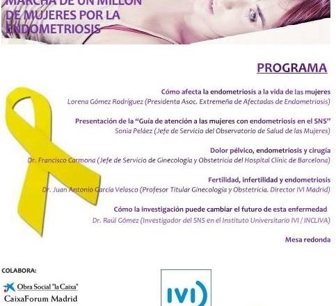 """Jornada """"Marcha de un millón de mujeres por la Endometriosis"""""""